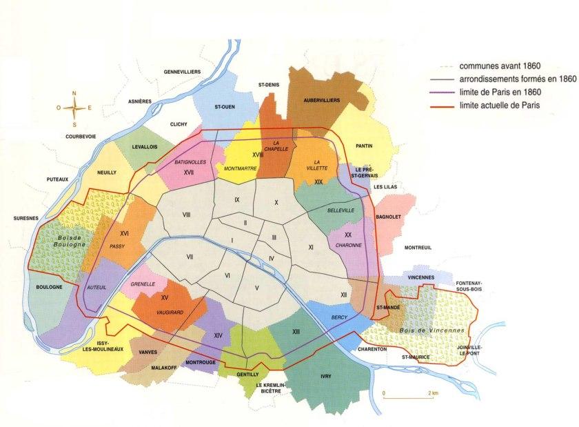 Plan de l annexion des communes et de la nouvelle division for Plan de belle villa